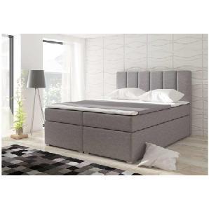 JUSTyou Bolero Boxspringbett Continentalbett Amerikanisches Bett Doppelbett Ehebett Gästebett 126x160x200 cm Grau I