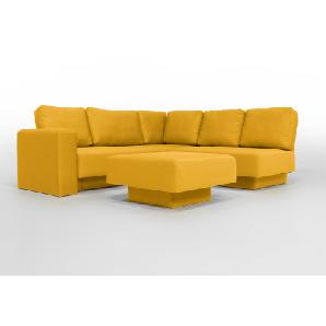 CHOICE 16 Modulsofa-System, max 237cm x 215 Gelb, das Statement in Webstoff, Schlafsofa, 2er Sofa, Recamiere, Erweiterbar, Schlafsofa, Day-Bed, Ausgezeichnet mit dem German Design Award
