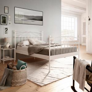 Home Affaire Metallbett »Birgit«, Liegefläche 140/200 cm, weiß