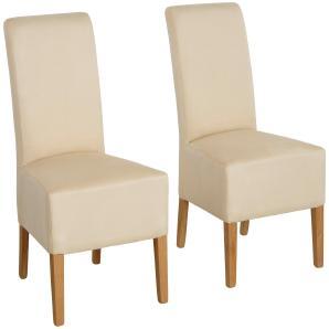 Home affaire Stuhl-Sets in verschiedenen Qualitäten bezogen »Rona« beige, 4er Set, Microfaser, FSC®-zertifiziert