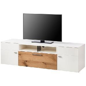 TV-Lowboard Anzio II - Matt Weiß / Balkeneiche, Netfurn by GWINNER