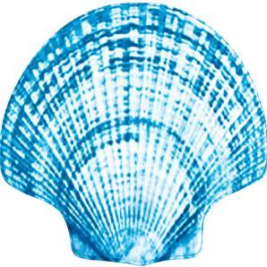 Badematte Sea Shell, Memory Schaum in blau