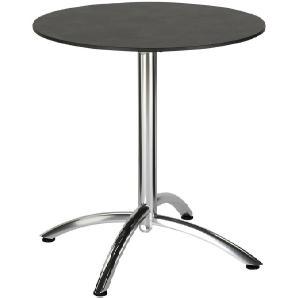 : Tisch, Anthrazit, Silber, H 73