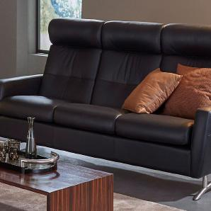 Places of Style 3-Sitzer Comfort Sofa Stella C100HB PLACES OF STYLE  schwarz