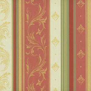 Classic Möbelstoff Versailles mit Fleckschutz Farbe Rose (beige, rosa, grün, champagner, rot) - Flachgewebe klassisch (Streifen, Ranke, Raute, Ornament), Polsterstoff, Stoff, Bezugsstoff, Eckbank, Couch, Sessel, Hussen, Kissen