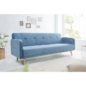 Design Schlafsofa SCANDINAVIA  210cm hellblau mit hochwertigem Aufbau
