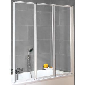 Schulte Badewannenaufsatz Echtglas Weiß 119 cm x 129 cm