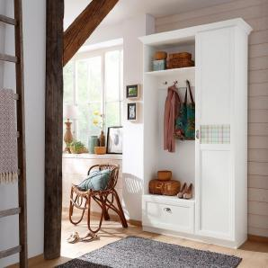 Home affaire Kompaktgarderobe »Sonya« mit dekorativem Glaseinsatz mit Karomuster
