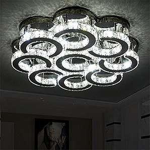 80CM minimalistisch modernen Wohnzimmerlampe Schlafzimmerlampe Restaurant romantische Blütenblatt-förmigen LED-Deckenleuchte (dreifarbige stufenlose Dimmen)