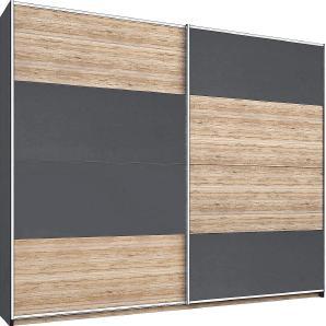Rauch Schwebetürenschrank, T/H 62/210 cm, grau, Breite 181 cm