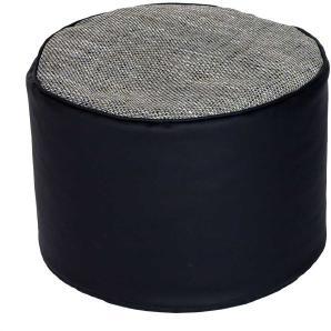 Sitzpouf  in Grau Schwarz modern