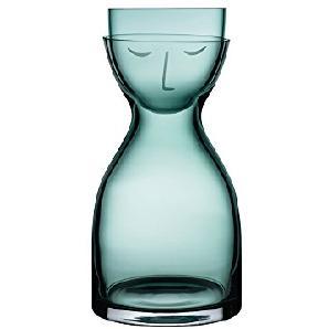 Nude, 92547 G, Mr. & Mrs. Night Set, Glas-Karaffe mit Trinkglas als Deckel, Klein (Grün)