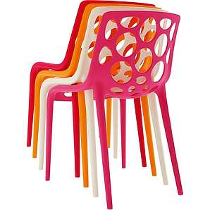 connubia by calligaris Stapelstühle »Hero«, 4er-Set