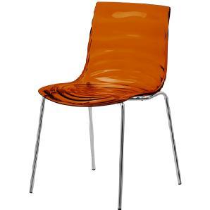 ?-50€ Gutschein• connubia calligaris Stuhl  LEau ¦ orange ¦ Maße (cm): B: 55 H: 77 T: 55 Stühle  Esszimmerstühle  Esszimmerstühle ohne Armlehnen » Höffner
