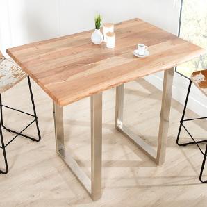 Massiver Bartisch MAMMUT 120cm Stehtisch 3,5cm Tischplatte Industrial Chic Baumtisch