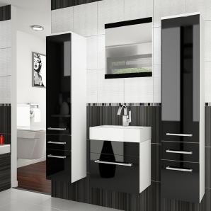 Superior V Badezimmerset Weiß Schwarz I