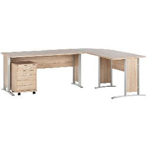 Schreibtischkombination Office Line (4-teilig) - Eiche Sonoma Dekor,  office