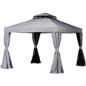 Pavillon  Sahara ¦ grau ¦ Stahl pulverbeschichtet ¦ Maße (cm): B: 300 H: 280 T: 300 Gartenmöbel  Pavillons » Höffner