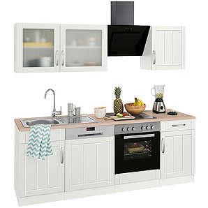 Küchenzeile mit E-Geräten Lund Breite 210 cm HELD MÖBEL weiß