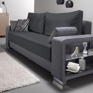Inosign Lampen, grau, B/H/T: 244x43x55cm, hoher Sitzkomfort