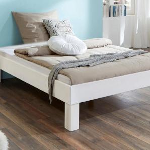 Futonbett weiß, 140/200cm, »Julia«, FSC®-zertifiziert, Relita
