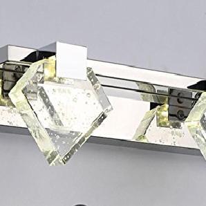HHORD LED-Spiegel vorne Licht Luxus einfache moderne Spiegel Vorderwand Lampe Bad Bad Kommode Make-up Kristall Spiegel , 2