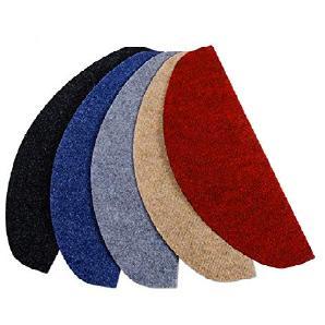 casa pura® Textilfaser - Stufenmatten für attraktive & sichere Treppenstufen | Set mit 15 Stück | robuste Allzweck-Matten für Stufen | verschiedene Farben ( beige )
