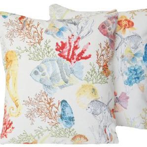Korallenriff Zierkissenbezug Paar Satz von zwei Koralle Kissenbezug Designer Dekorative Kissen Wirft