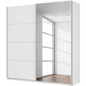 Schwebetürenschrank Quadra (mit Spiegel) - Alpinweiß - Breite x Höhe: 226 x 230 cm, Rauch Packs
