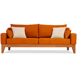 3-Sitzer Sofa Lobby - Gelb-orange