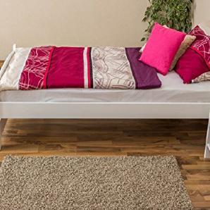 Tagesbett / Gästebett Buche massiv Vollholz weiß 118, inkl. Lattenrost - Abmessung 100 x 200 cm