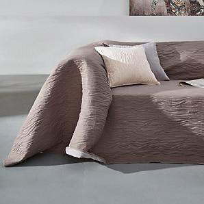 Sessel-/Sofaüberwurf, grau, Gr. ca. 250/330 cm,  home