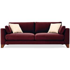3-Sitzer Sofa Torino - Rot-burgunder
