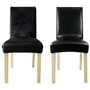 6er Auralum Kunstleder Stuhlhusse Doppelzweck Sitzbezüge Stuhlbezug Schwarz M-size Stretchhusse Hochzeit