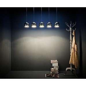 Hängeleuchte Pentola 112 cm Chrom Silberfarben 5 Schirme, Hängeleuchten