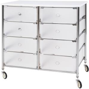 Rollschrank Boreano - Kunststoff / Metall - 65 cm, mooved