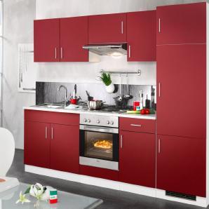Wiho Küchen Küchenzeile »Valencia«, mit Elektrogeräten, Set 1: 270 cm