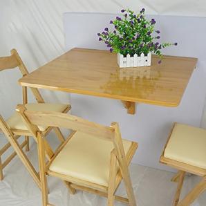 Holz Wand Tisch Wandmontiert Drop-Blatt Tisch Falten Küche Esstisch Computer Schreibtisch ( Farbe : Burlywood )