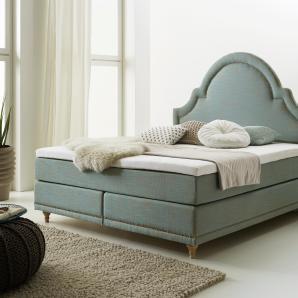 Home affaire Boxspringbett grün, Liegefläche 180/200 cm, »Silvia«, FSC®-zertifiziert