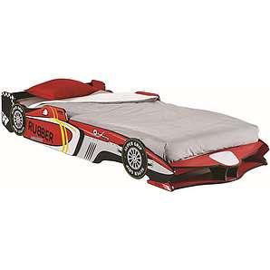 Kinderbett / Autobett Henry 15, Farbe: Rot - Liegefläche: 90 x 190 / 200 cm (B x L)