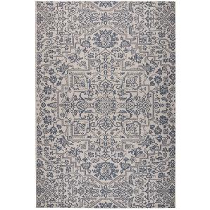 In-/Outdoorteppich Ferna - Kunstfaser - Creme / Marineblau - 200 x 290 cm, Top Square