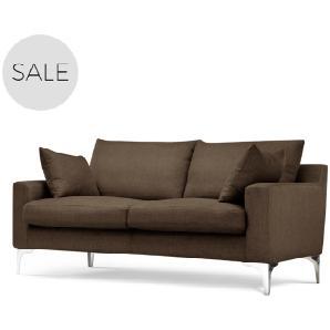 Mendini 2-Sitzer Sofa, Schokoladenbraun
