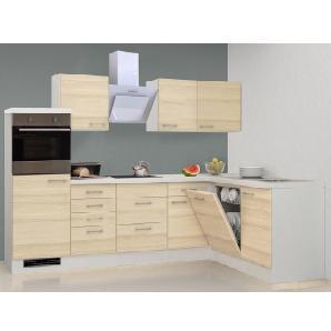 Flex-Well Exclusiv Winkelküche Akazia 280x170 cm Akazie Nachbildung-Weiß
