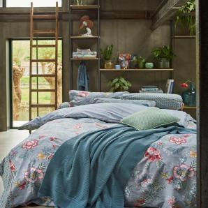 Pip Studio Tagesdecke »Berry bird«, 150x200 cm, waschbar, blau