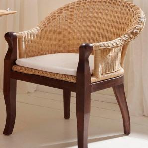 Home affaire Sessel inklusive Kissen, braun, Gr. naturfarben, HOME AFFAIRE