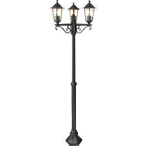 EEK A++, Laterne Crown Lantern - Glas / Aluminium - 3-flammig, Brilliant