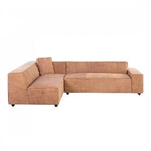 Sofa Vintage Braun - Ecksofa - Ledersofa - Echtleder - ADAM R