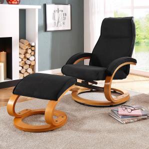 Home affaire Relaxsessel & Hocker, schwarz »Paris«, FSC®-zertifiziert
