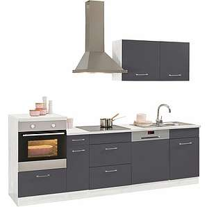k chenzeilen in grau online vergleichen m bel 24. Black Bedroom Furniture Sets. Home Design Ideas