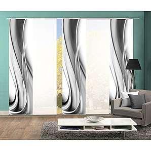 schiebegardinen schiebevorh nge in grau online vergleichen m bel 24. Black Bedroom Furniture Sets. Home Design Ideas